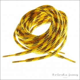 Round 5mm laces in Yellow/Anthracite for wading boots