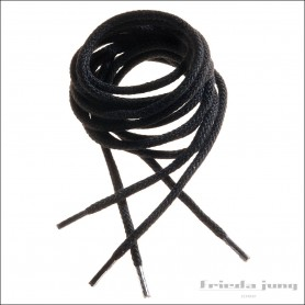 Round cord laces in Black by Frieda Jung
