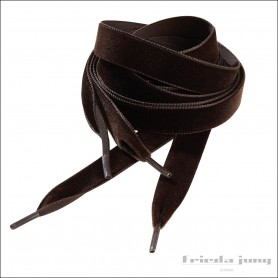 Velvet shoelaces in Dark Brown by Frieda Jung. Buy Online.