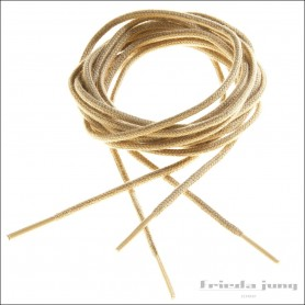 Round shoelaces 2.5mm in Light Beige. Thin fine shoelaces