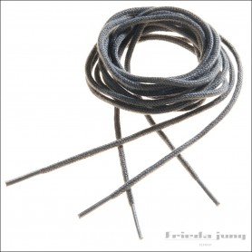 Round shoelaces 2.5mm in Grey. Thin fine shoelaces