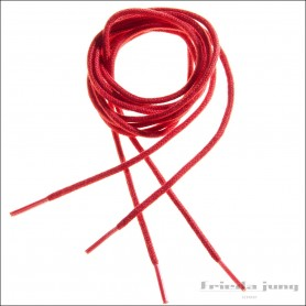 Round shoelaces 2.5mm in Red. Thin fine shoelaces