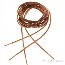 Round shoelaces 2.5mm in Light Brown. Thin fine shoelaces