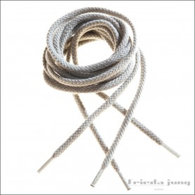 Round shoelaces in Stone Grey by Frieda Jung
