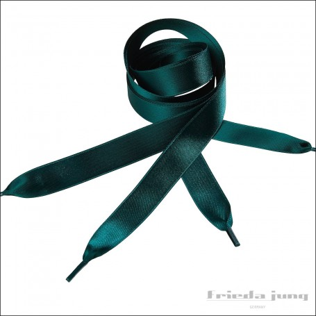 Satin shoelaces 16mm wide in Dark Green by Frieda Jung