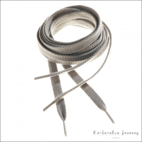 Flat shoelaces in Stone Grey by Frieda Jung