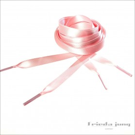 Satin shoelaces in Pink, 10mm thin by Frieda Jung