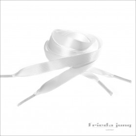 Satin shoelaces in White, 10mm thin by Frieda Jung