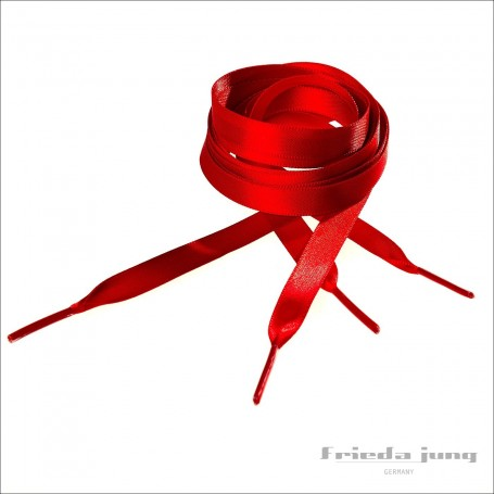 Satin shoelaces in Red, 10mm thin by Frieda Jung