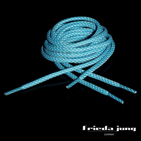 Round reflective shoelaces in Light-Blue