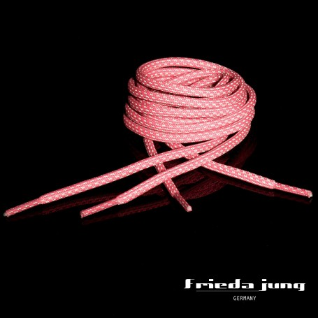 Round reflective shoelaces in Pink