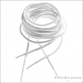 Round cord laces in White by Frieda Jung