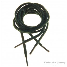 Round cord laces in Dark Green by Frieda Jung. Buy Online