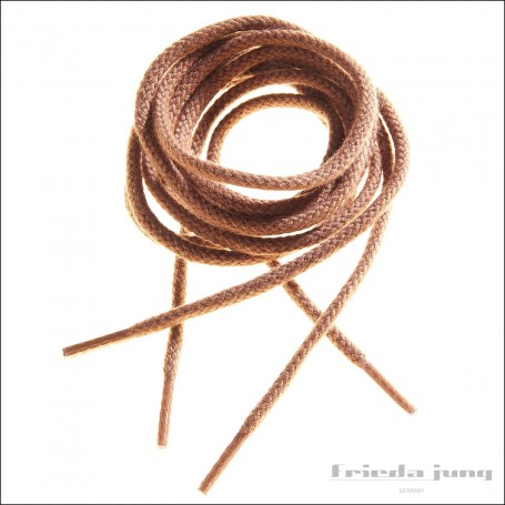 Round cord laces in Medium Brown by Frieda Jung