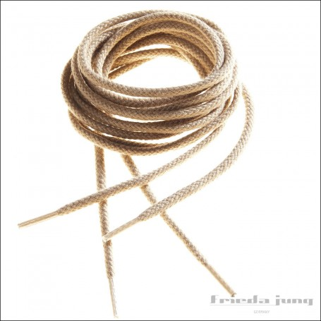 Round cord laces in Light Beige by Frieda Jung