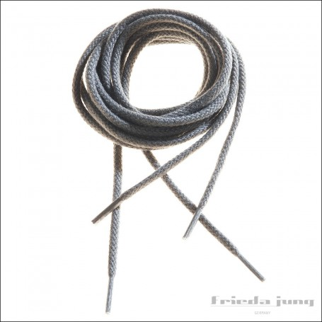 Round cord laces in Grey by Frieda Jung