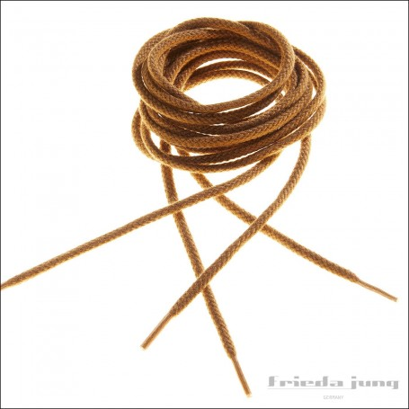 Round cord laces in Camel by Frieda Jung