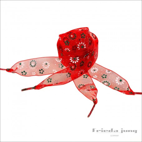 Shoelaces from organza chiffon in Red by Frieda Jung