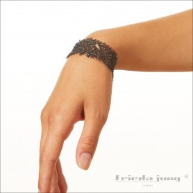 Narrow lace bracelet in Grey by Frieda Jung. Buy Online.