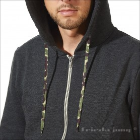 Camouflage hoodie strings in Green by Frieda Jung