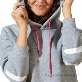 Glitter hoodie drawstrings by Frieda Jung