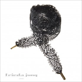 embroidered lace in Grey by Frida Jung