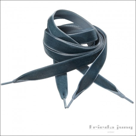 Velvet shoelaces in Dark Grey by Frieda Jung. Buy Online.