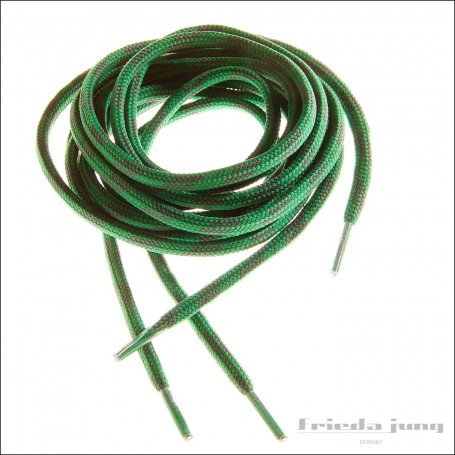 Shoelaces for hiking boots, trekking, fishing, outdoor green