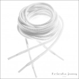Round shoelaces in White by Frieda Jung