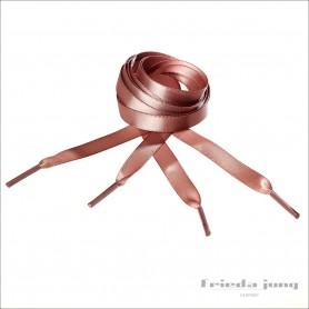 Satin shoelaces in Cameo-Brown, 10mm thin by Frieda Jung