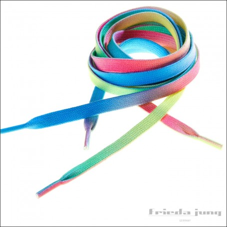 Colourful rainbow laces by Frieda Jung