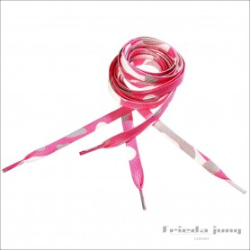 Pink camouflage shoelaces by Frieda Jung