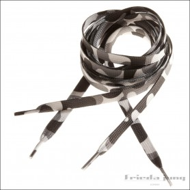 Grey camouflage shoelaces by Frieda Jung. Laces Camou Shoes