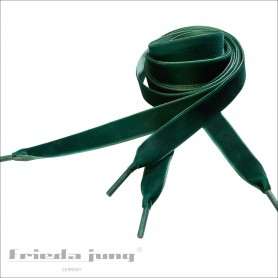 Velvet shoelaces Laces Shoes green