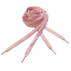Flat Cross Pattern Laces for Sports & Leisure Red-White